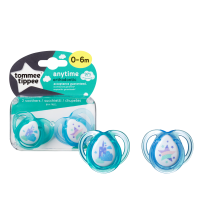 Set Suzete Ortodontice Anytime, Tommee Tippee, 0-6 Luni, 2 buc