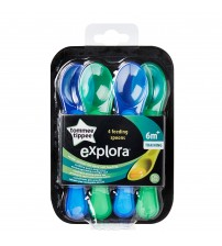 Lingurite ergonomice Explora, Tommee Tippee, 4 buc