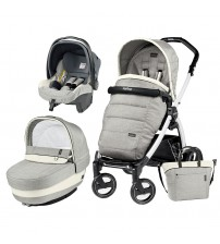 Carucior 3 In 1, Peg Perego, Book Plus S, Black&White, Completo Elite