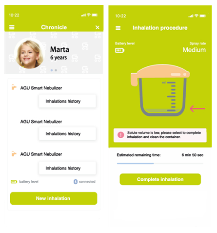 nebulizator cu aplicatie mobila