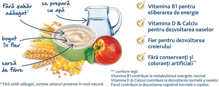 Cereale cu lapte Milupa, Vise Placute 7 Cereale cu lapte si mere