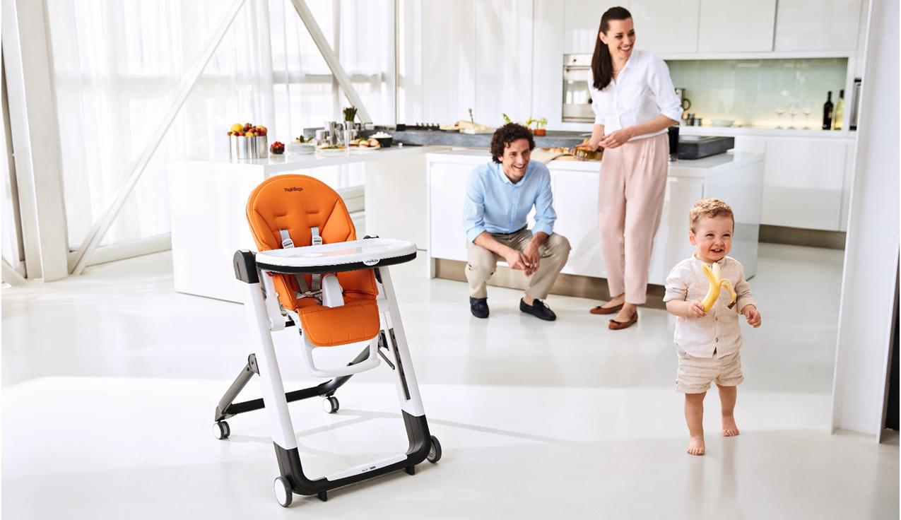 scaun de masa bebe portocaliu