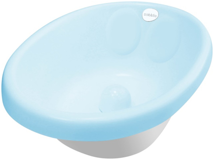 cadita de baie bebe albastru